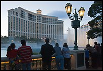 Watching the Fountains of Bellagio at dusk. Las Vegas, Nevada, USA ( color)