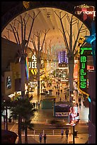 Fremont street canopy, downtown. Las Vegas, Nevada, USA ( color)