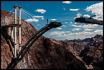 Pat Tillman Memorial Bridge (Hoover Dam Bypass) under construction. Hoover Dam, Nevada and Arizona ( color)