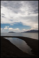Crescent-shaped pool on lakeshore. Pyramid Lake, Nevada, USA ( color)