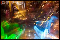 Fast moving lights and arcade game players. Reno, Nevada, USA ( color)