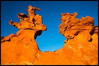 Thin fins of sandstone. Gold Butte National Monument, Nevada, USA ( )
