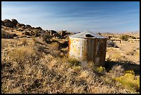 Abandonned tank, Gold Butte townsite. Gold Butte National Monument, Nevada, USA ( )