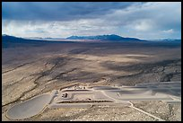 Aerial view of part of Michael Heizer's City. Basin And Range National Monument, Nevada, USA ( )