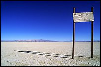 Sign in the middle of nowhere, Black Rock Desert. Nevada, USA (color)