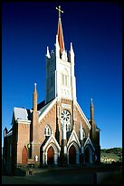 Catholic Church dating from 1876. Virginia City, Nevada, USA (color)
