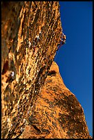 Rock climbers. Red Rock Canyon, Nevada, USA (color)