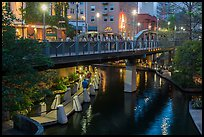 Bridge on Riverwalk. San Antonio, Texas, USA ( color)