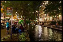 Riverwalk at night. San Antonio, Texas, USA ( color)