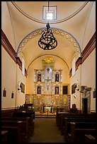 Interior of church, Mission San Jose. San Antonio, Texas, USA