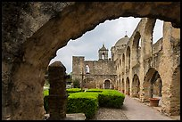 Convento and Church Dome, , Mission San Jose. San Antonio, Texas, USA
