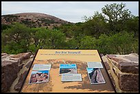 Interpretive sign, Enchanted Rock state park. Texas, USA ( color)