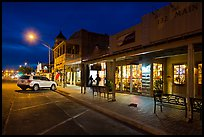 Stores at night. Fredericksburg, Texas, USA ( color)