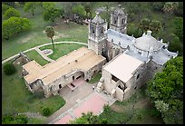 Aerial view of Mission Concepcion. San Antonio, Texas, USA ( color)