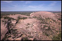 Aerial view of Enchanted Rock granite domes. Texas, USA ( color)
