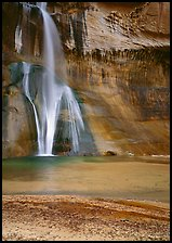 Lower Calf Creek Falls and pool. Grand Staircase Escalante National Monument, Utah, USA ( color)