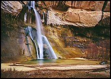 Lower Calf Creek Falls. Grand Staircase Escalante National Monument, Utah, USA ( color)