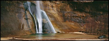 Desert waterfall. Grand Staircase Escalante National Monument, Utah, USA (Panoramic color)