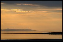 Ridgelines at sunset, Antelope Island, Great Salt Lake,. Utah, USA ( color)