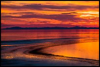 Antelope Island sunset. Utah, USA ( color)