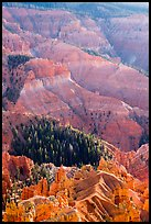 Chessmen Ridge and Canyon. Cedar Breaks National Monument, Utah, USA ( color)