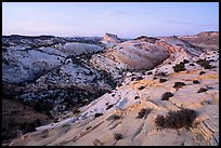 Castle Rock from Yellow Rock, dusk. Grand Staircase Escalante National Monument, Utah, USA ( color)
