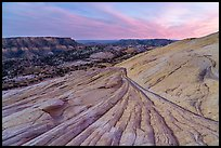 Yellow Rock slickrock and valley. Grand Staircase Escalante National Monument, Utah, USA ( color)