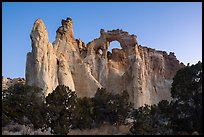 152-foot high Grosvenor Arch, dawn. Grand Staircase Escalante National Monument, Utah, USA ( color)