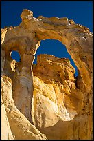 90-foot span of Grosvenor Arch. Grand Staircase Escalante National Monument, Utah, USA ( color)