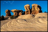 Swirls and hoodoos, Devils Garden. Grand Staircase Escalante National Monument, Utah, USA ( color)