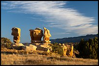 Hoodoos at sunset, Devils Garden. Grand Staircase Escalante National Monument, Utah, USA ( color)