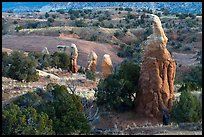 Mononliths and hills, Devils Garden. Grand Staircase Escalante National Monument, Utah, USA ( color)