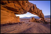 Sunset Arch, dawn. Grand Staircase Escalante National Monument, Utah, USA ( color)