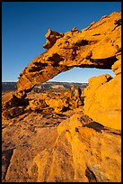 Graceful span of Sunset Arch, early morning. Grand Staircase Escalante National Monument, Utah, USA ( color)