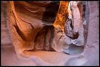Chamber, Peek-a-Boo slot canyon, Dry Fork Coyote Gulch. Grand Staircase Escalante National Monument, Utah, USA ( color)