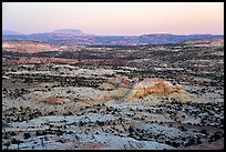 Expanses of sandstone, sunset. Grand Staircase Escalante National Monument, Utah, USA ( color)