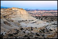 Sandstone domes, twilight. Grand Staircase Escalante National Monument, Utah, USA ( color)