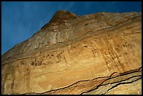 Cliff with Hundred Handprints panel. Grand Staircase Escalante National Monument, Utah, USA ( color)