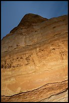 Cliff with Hundred Handprints at night. Grand Staircase Escalante National Monument, Utah, USA ( color)
