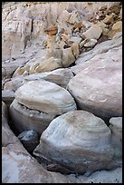 Rounded rocks, Wahweap Wash. Grand Staircase Escalante National Monument, Utah, USA ( color)