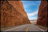 Road cut through Comb Ridge anticline. Bears Ears National Monument, Utah, USA ( color)