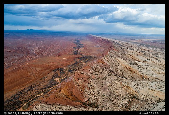 Aerial view of Comb Ridge. Bears Ears National Monument, Utah, USA (color)