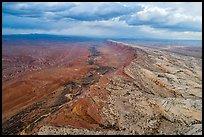 Aerial view of Comb Ridge. Bears Ears National Monument, Utah, USA ( )