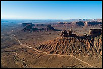 Aerial view of Valley of the Gods. Bears Ears National Monument, Utah, USA ( )