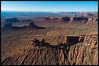Aerial view of buttes in Valley of the Gods. Bears Ears National Monument, Utah, USA ( )