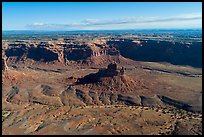 Aerial view of butte and cliffs, Valley of the Gods. Bears Ears National Monument, Utah, USA ( )