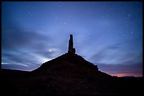 Spire and stars, Valley of the Gods. Bears Ears National Monument, Utah, USA ( )