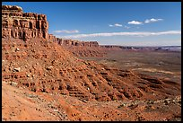 Cliffs and Valley of the Gods from Moki Dugway. Bears Ears National Monument, Utah, USA ( )