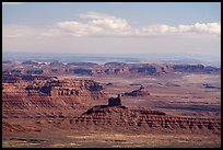 Distant view of Valley of the Gods. Bears Ears National Monument, Utah, USA ( )