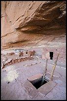 Entrance to Perfect Kiva. Bears Ears National Monument, Utah, USA ( )